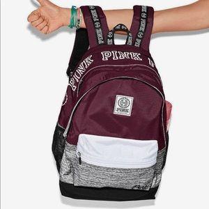 Victoria's Secret PINK | Preloved Maroon Backpack